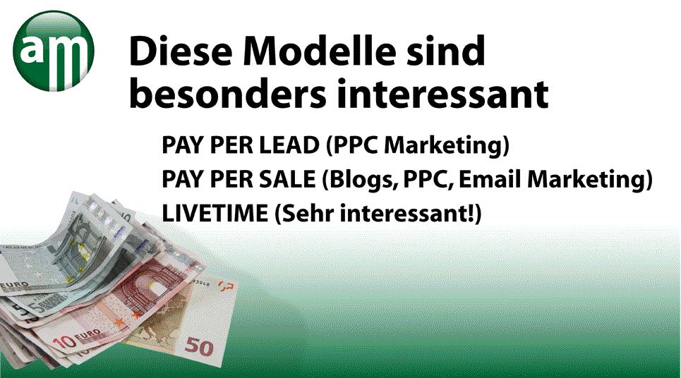 Affiliate Marketing / Einführung in die Provisionsmodelle