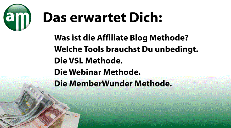Affiliate Marketing / Affiliate Quickstart Strategien