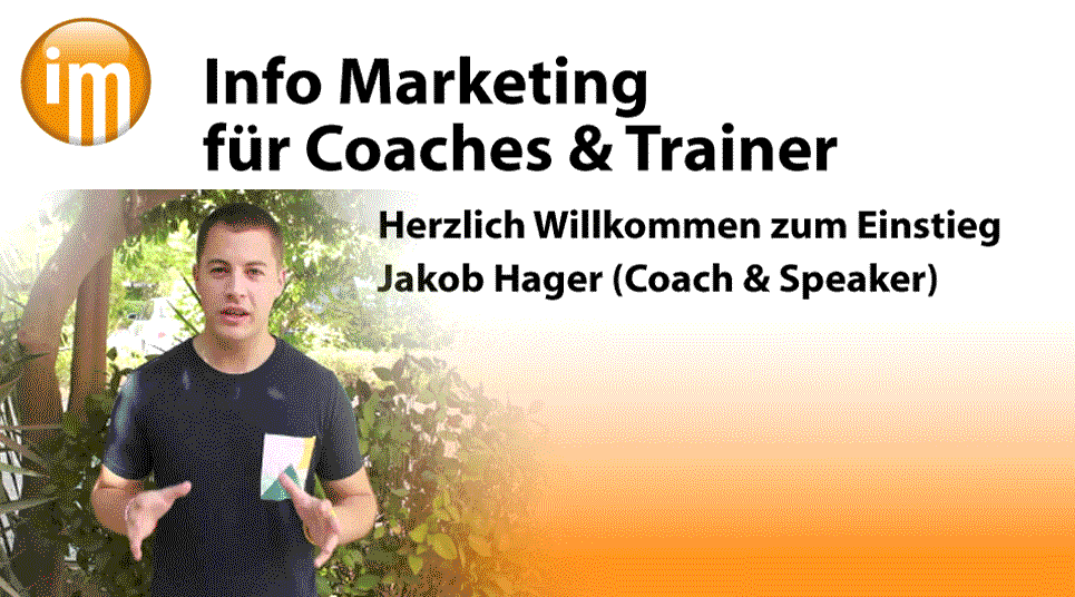 Info Marketing Coach Jakob Hager