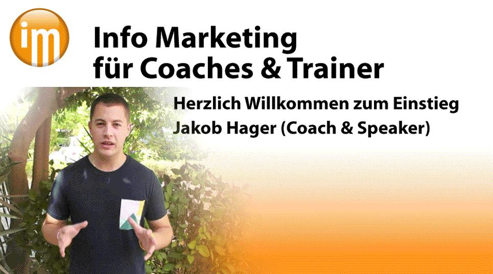Info Marketing Coach Jakob Hager