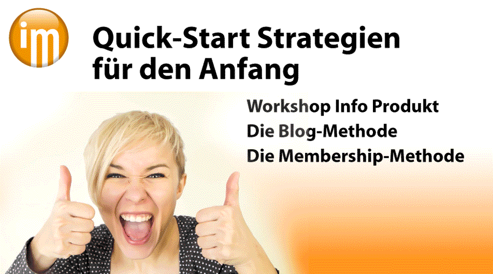 Info Marketing QuickStart Strategien