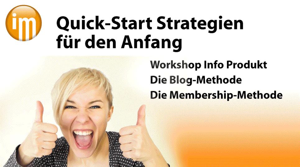 Info Marketing QuickStart Strategien