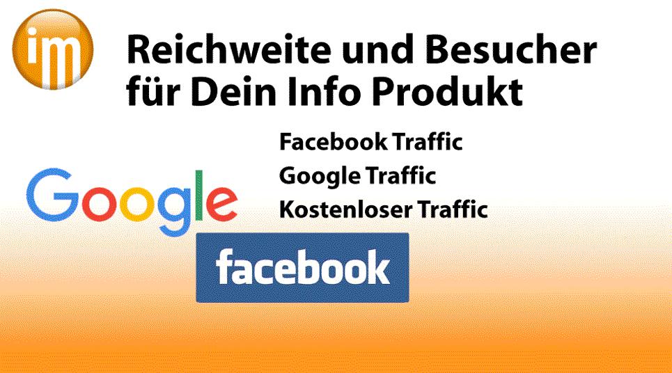 Info Marketing Reichweite und Besucher  für Dein Info Produkt