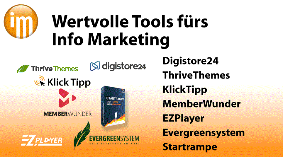 Info Marketing Wertvolle Info Marketing Tools