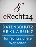 erecht24 Datenschutz ist nötig!
